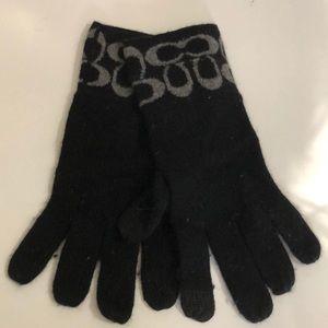 Coach black gloves